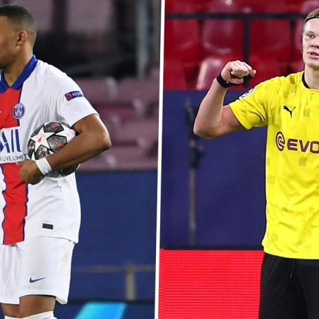 Haaland: Mbappe hat-trick, Sevilla'ya karşı Dortmund'u ikiye katlamama ilham verdi